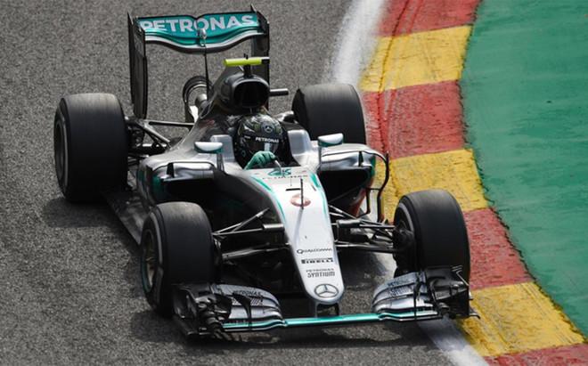 Rosberg no dio opci�n en B�lgica
