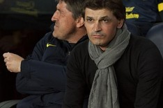 Jordi Roura y Tito Vilanova durante el Bara-Valladolid