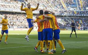 El Barcelona venció en Málaga