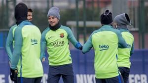 El Barcelona se ha entrenado este sábado