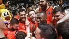 El Valencia celebró a lo grande el pase a la gran final de la Eurocopa