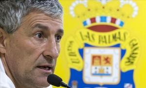Quique Setién creció como técnico en el banquillo de la UD Las Palmas