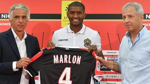 Marlon, el día que fue presentado como jugador del Niza