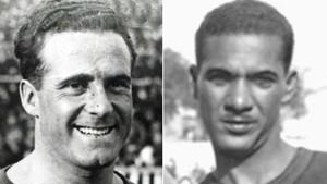 Dos exjugadores del FC Barcelona: Héctor Scarone (Uruguay) y Fausto dos Santos (Brasil)