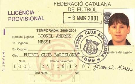 La ficha federativa de Leo Messi