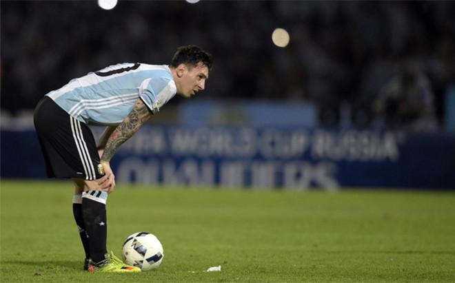 Leo Messi, durante un encuentro de la selecci�n argentina