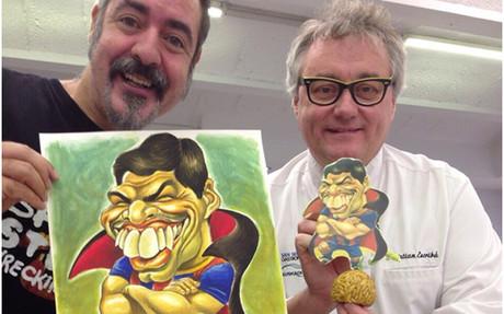 Luis Su�rez ya tiene 'panallet' y caricatura