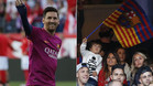 Messi saluda a su familia