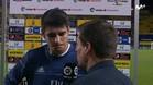 Morata, entrevistado al final del encuentro