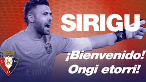 El meta Sirigu jugará cedido en Osasuna hasta final de temporada
