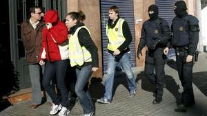 Una de las últimas redadas a miembros de Boixos Nois en Barcelona