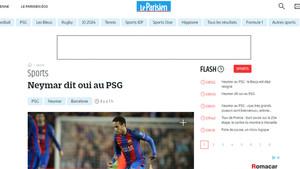 El diario Le Parisien asegura que Neymar ya ha apostado por el PSG