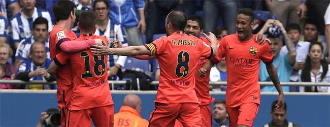 El Bar�a somete al Espanyol y se lleva un nuevo derbi