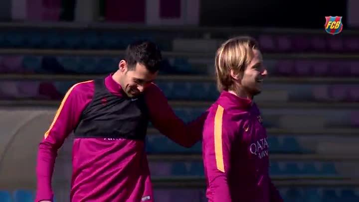 Neymar y Samper, novedades en el entrenamiento del Bar�a