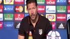 "Simeone: ""Solo me dejar� feliz ganar ma�ana"""
