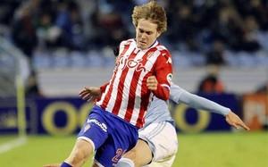 Halilovic, en un partido con el Sporting