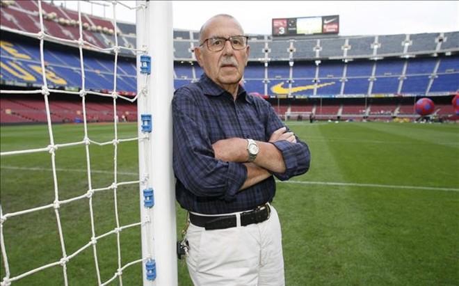 Manel Vich llevaba 60 a�os siendo la voz del Camp Nou