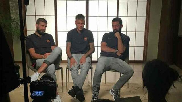Piqué bromeó con el pelo de Neymar