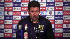 Simeone eval�a al Sevilla y a Ferreira Carrasco en sala de prensa