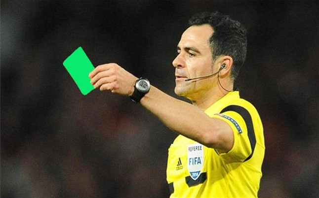 La tarjeta verde llega al f�tbol italiano