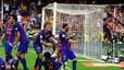 It wasn't just a bottle which Valencia fans threw at Barcelona's players