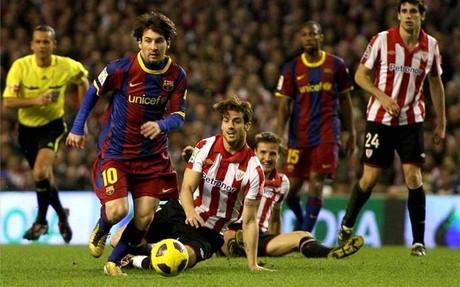 Messi, en los octavos de final de 2011: la última vez que Athletic y Barça se han cruzado en la Copa