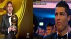 La reacción de Cristiano Ronaldo al saber que Messi era el ganador dio que hablar en la red