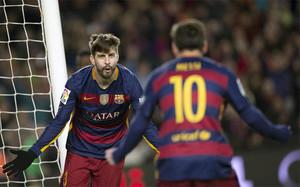 Piqué marcó un gol al Espanyol