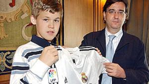 Magnus Carlsen ha seguido al Real Madrid desde que era un niño