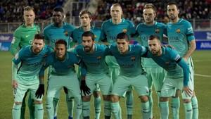 El equipo titular que saltó a Ipurua y se impuso al Eibar (0-4) en el último partido de la primera vuelta de LaLiga Santander 2016 - 2017