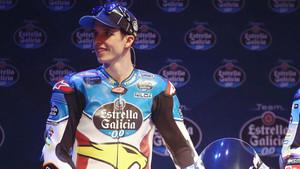 Alex Márquez, en la presentación del equipo