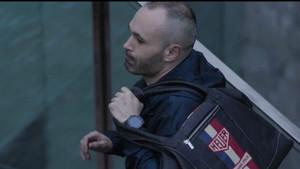Andrés Iniesta en la campaña de promoción de TAG Heuer