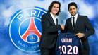 Cavani firmó su renovación hasta 2020 con el PSG