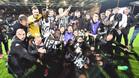 Los jugadores del Angers festejaron un triunfo histórico