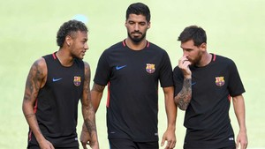 Neymar, Suárez y Leo