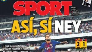 El titular de SPORT