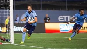 Villa, tras anotar el gol del empate