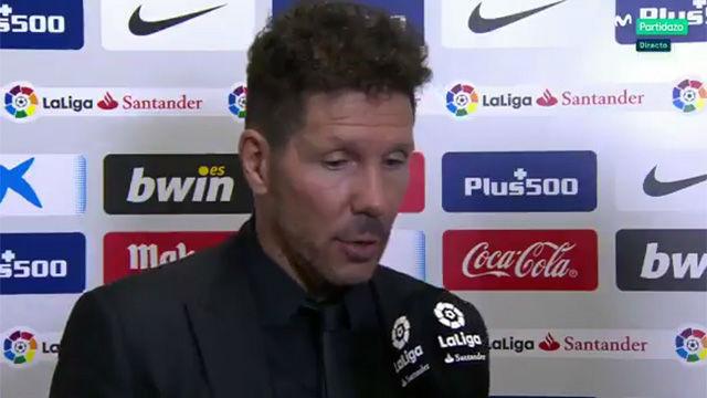 Simeone elogió el partido de Messi ante el Atlético