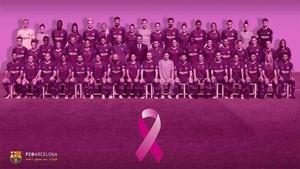 El Barça ha mostrado su compromiso contra el cáncer de mama