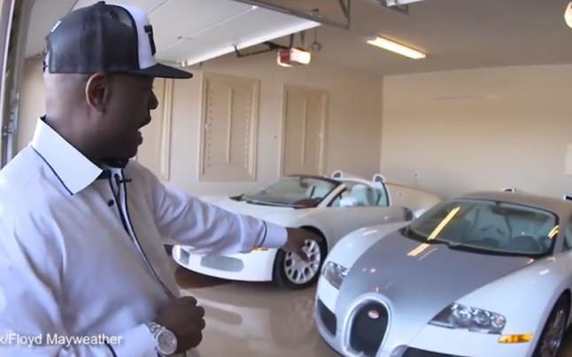 Mayweather presume de su fastuosa colecci n de coches for Garaje de coches