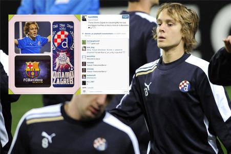 Halilovic hizo público su traspaso al Barça en Instagram