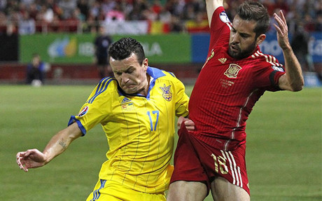 Jordi Alba se lesion� ante Ucrania