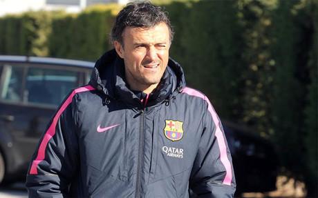Luis Enrique prepara el partido contra el Villarreal casi al completo