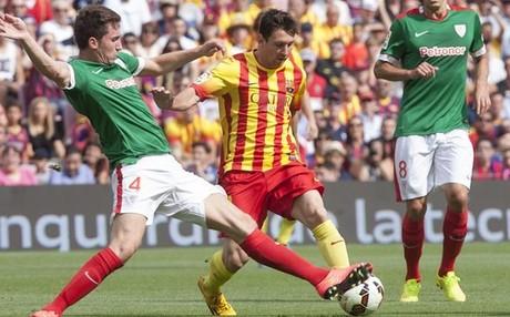 Messi, en un partido contra el Athletic