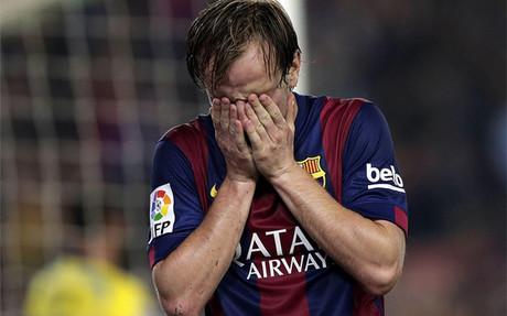 Rakitic no celebr� su gol ante el Sevilla
