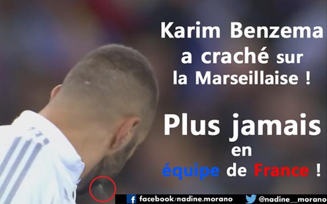 Piden que la selección francesa expulse a Benzema por escupir tras La Marsellesa
