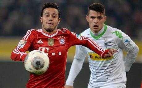 Thiago Alc�ntara, en un partido de la pasada temporada contra el Borussia M'Gladbach