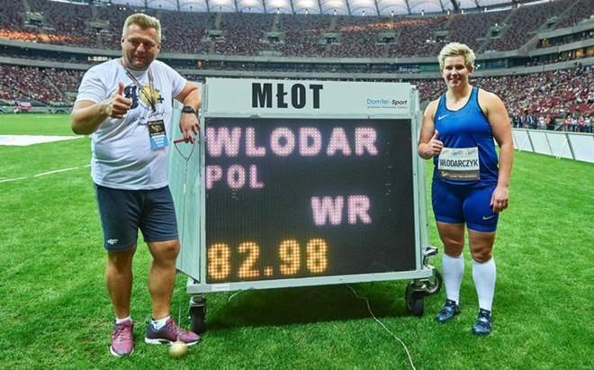 Wlodarczyk volvi� a pulverizar el r�cord del mundo en lanzamiento de martillo