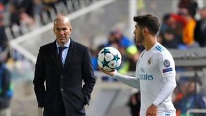 Zidane no podrá contar con Asensio ante el Málaga
