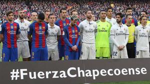 Barça y Madrid rindieron homenaje a las víctimas en el último clásico